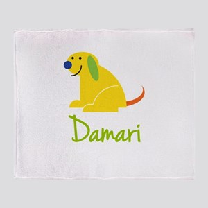 Damari Loves Puppies Throw Blanket